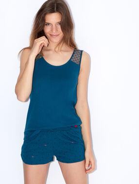 Pyjama top blue.
