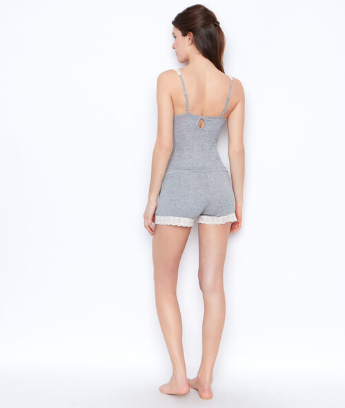 Lace combishort