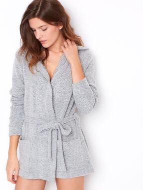 Pyjama jacket grey.