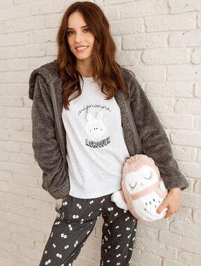 Pyjama 3 teilig grau.