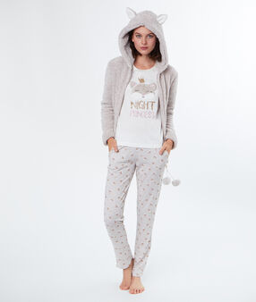 3 pieces pyjama beige.