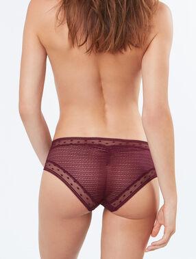 Lace shorts burgundy.
