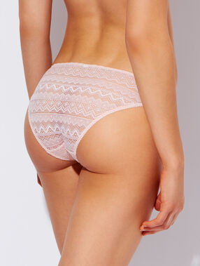 Lace knickers light pink.
