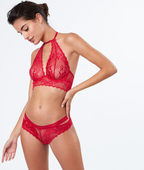 Lace cheeky red.