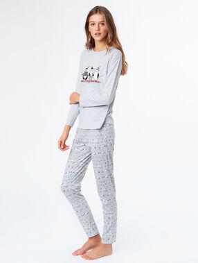 Printed t-shirt grey.
