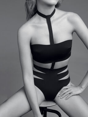 Body néoprène à lanières black.