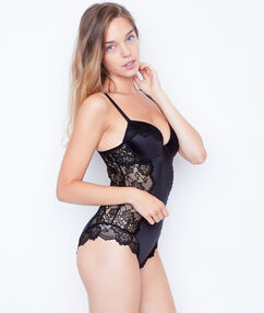 Shapewear bodysuit black.