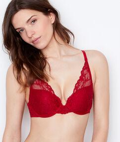Triangle bra red.
