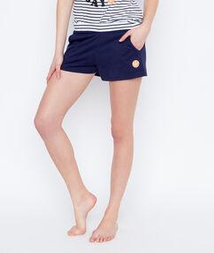 Smiley pyjama shorts blue.