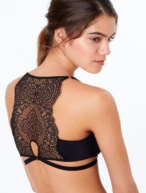 Triangle bra noir.