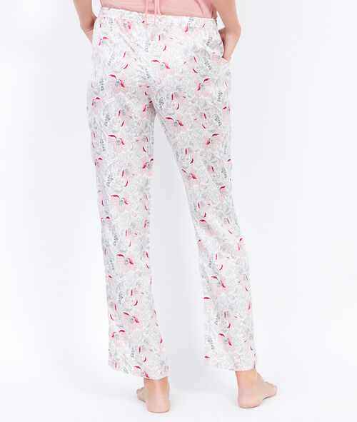 Printed pants with bow