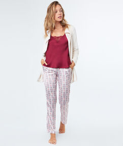3 pieces pyjama burgundy.
