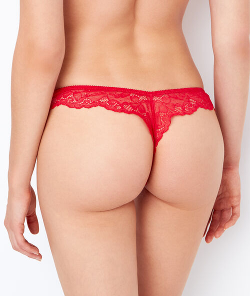 Lace and satin tanga