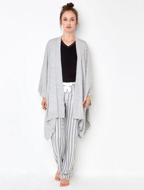 Cotton poncho grey.