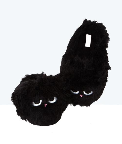 Faux fur 3D slippers