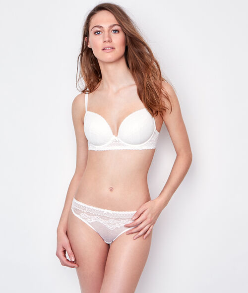 Padded Demi Cup Bra, D Cup