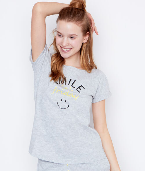 Smiley printed top