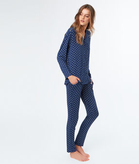 Printed pyjama pants blue.