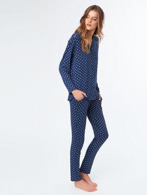 Pyjamapants blau.