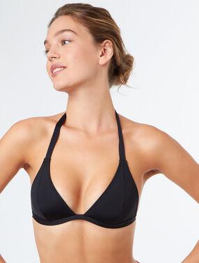 Triangle bra black.
