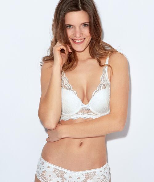 Lace triangle bra, push up