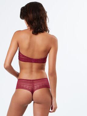 String burgundy.