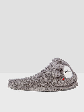 Slippers grey.