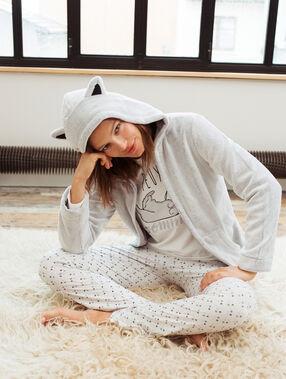 3 pieces pyjamas grey.