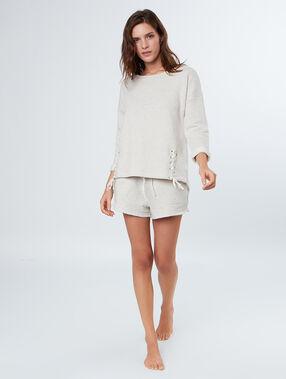Pyjama short beige.