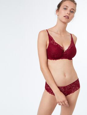 Triangle bra burgundy.