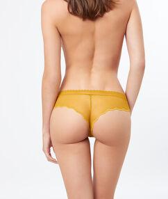 Hipster aus spitze gelb.