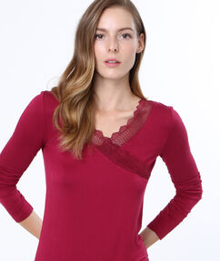 Lace top burgundy.