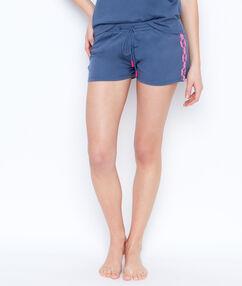 Printed pyjama shorts blue.
