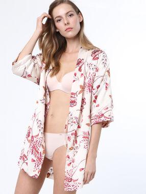 Printed negligee white.