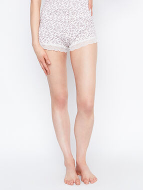 Printed short beige.