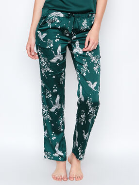 Satine pyjama pants green.