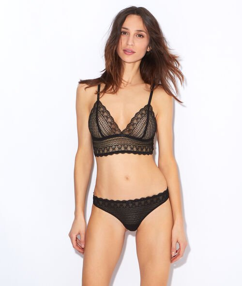wireless lace triangle bra