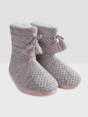 Boots slippers grey/pink.