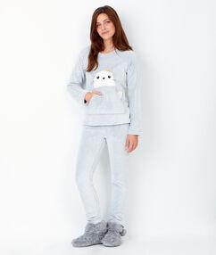 2 pieces pyjama grey.