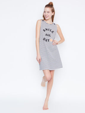Printed smiley nightdress blue.