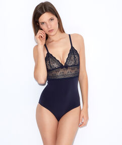 Lace bodysuit navy blue.