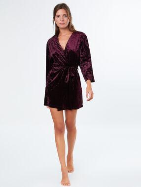 Velvet kimono burgundy.