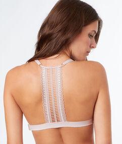 Triangle bra pink.