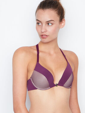 Push-up-bra purple.