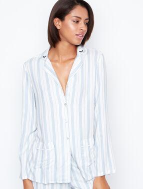 Pyjama oberteile weiß.