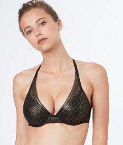 Triangle bra gold.