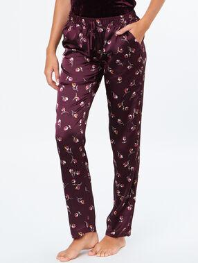 Satine pyjama pants aubergine.