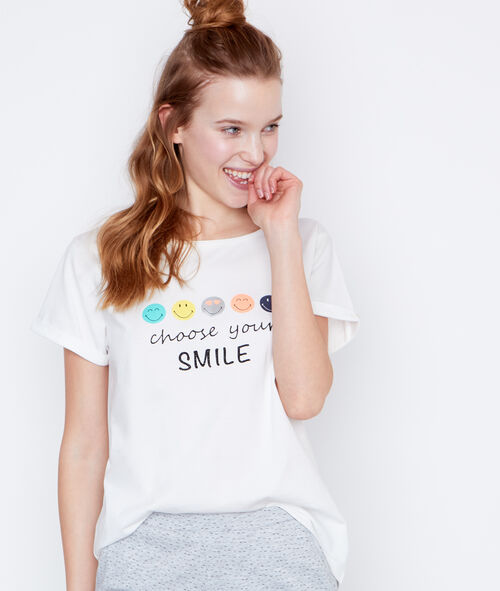 Smiley printed t-shirt