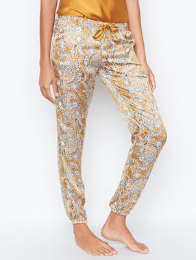 Printed pyjama pants jaune.