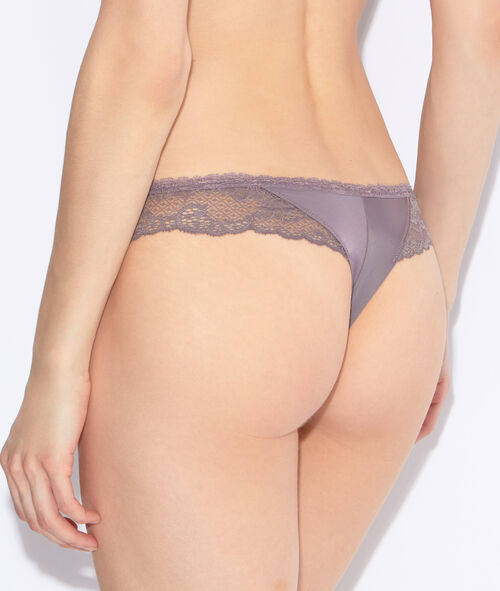 Lace and micro tanga